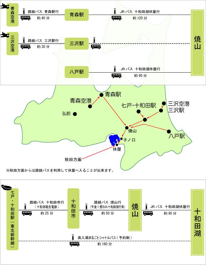 奥入瀬渓流までのアクセス